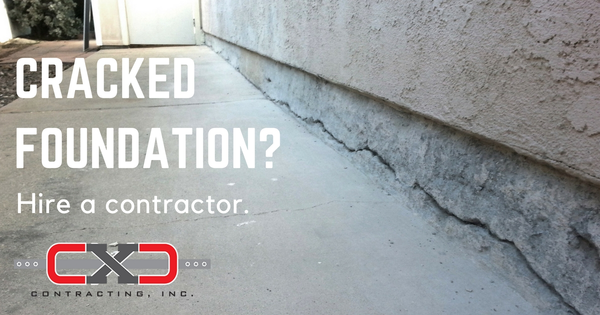Cracked Foundation Repair - CXC Contracting