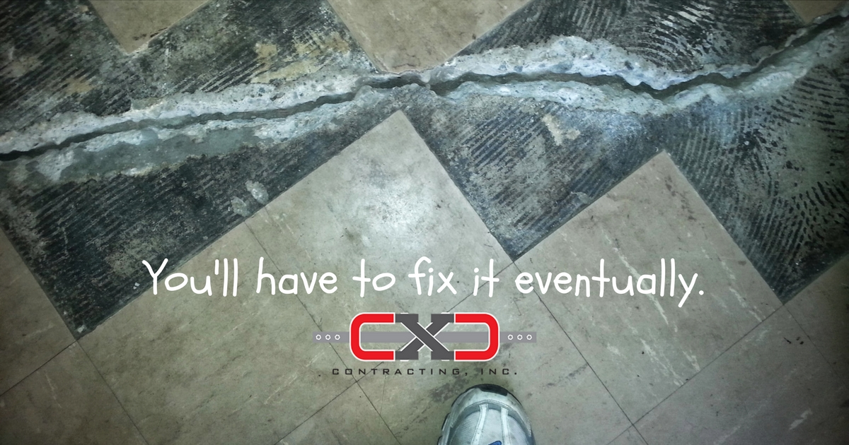 Cracked Floor - Foundation Repair